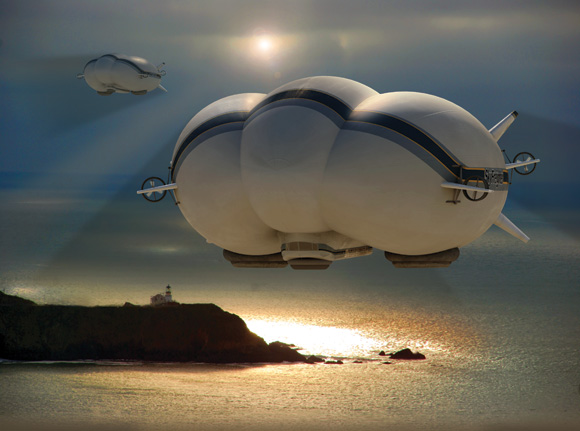 Established aircraft manufacturer Lockheed­ Martin is thinking beyond wings as it considers the design of helium-lift airships­ that would serve as cargo vessels­ for the 21st century.