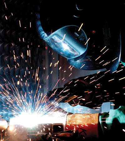 Helium is key in arc welding, as its sterilizing properties prevent contamination in the air from affecting­ the integrity of the metals­ undergoing bonding.