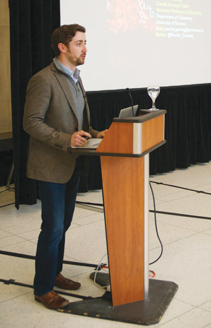 Patrick Gunning, an associate professor of chemistry at the University of Toronto Mississauga, gave the keynote address.