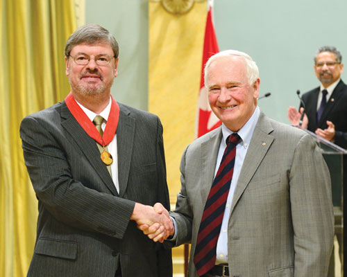 Governor General David Johnston presented Axel Becke with the Herzberg Medal this past February in Ottawa.