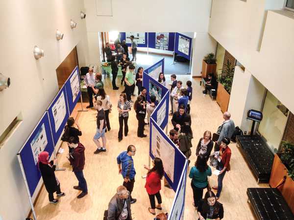 A research poster session was one of the features at the student-organized Green Chemistry­ Applied in Industry Symposium, which was hosted by the University of Toronto.