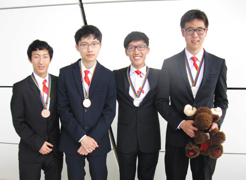 Jeff An, Spencer Zhao, Alexander Cui and Scott Xiao were medal winners at the 47th International Chemistry Olympiad in Azerbaijan.
