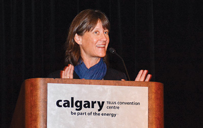Cenovus's Judy Fairburn says the oil industry is focusing on alleviating climate change.