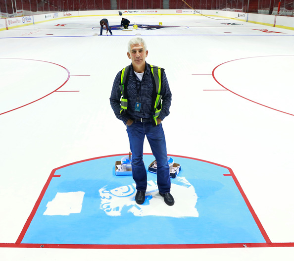 Mark Wohl, the manager of plant operations at Canucks Sports & Entertainment, is considered one of the top hockey ice experts in the NHL.