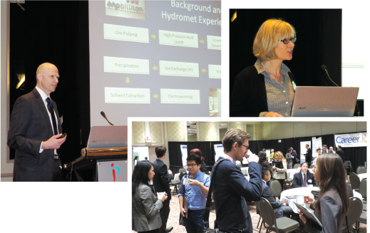 Lecturers at the Industrial Chemistry and Engineering Conference in Toronto included Adam Whalley and Julie Schroeder. Students mingled with industrial professionals at a networking seminar.