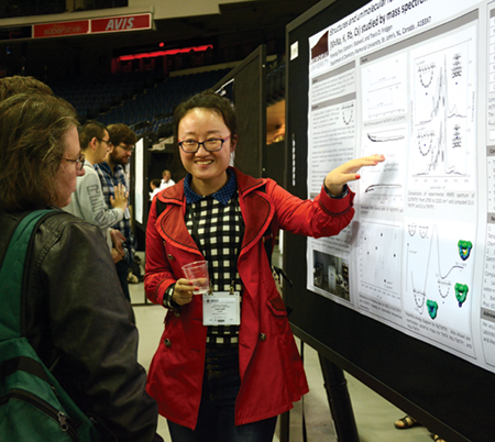 PhD student Yanyang Chen presented a poster related to her studies at Memorial University of Newfoundland.