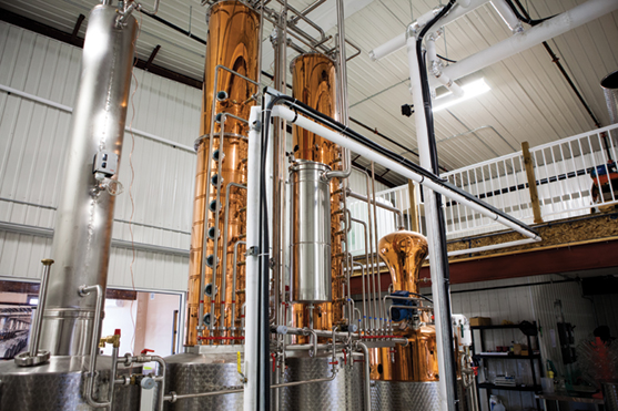 The centrepiece of Top Shelf Distillers' activities is a German-made still, which are in such high demand that micro-distillers wait years to acquire one. Photo credit: Nick Lafontaine