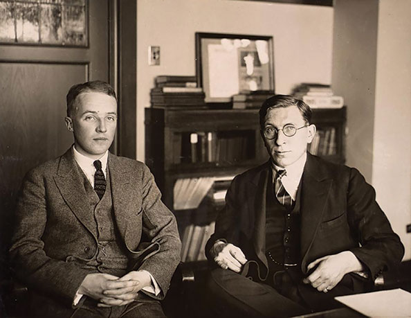 University of Toronto researchers Charles Best and Frederick­ Banting­ saved the lives of countless diabetics with their discovery­ of insulin in the 1920s.