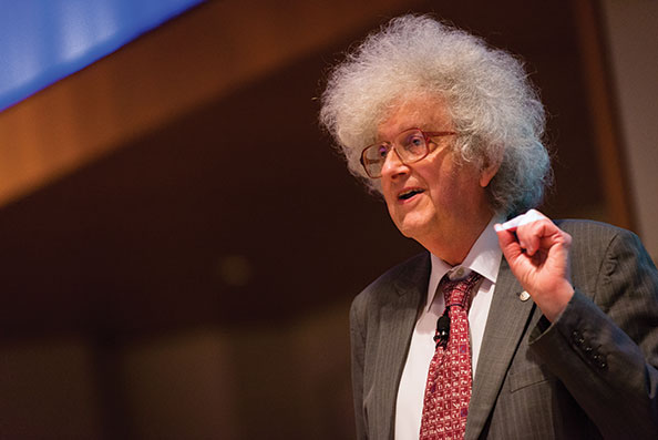 University of Nottingham chemistry professor Sir Martyn Poliakoff gave the This Molecular World presentation.