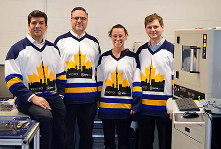 Nick Vukotic (Principal Scientist & PDM), Robert Drake (Sales Manager), Janet Casey (Marketing Specialist and Graphic Designer), Stanislav Veinberg (Application Scientist)