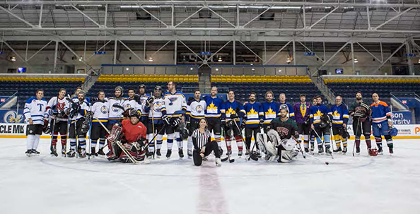 The 50th IDW's commemorative hockey game, held at Ryerson University's Mattamy Athletic Centre.