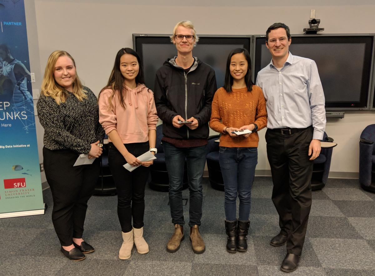 Winners of the Vancouver CIC Local Section's Student Achievement Awards