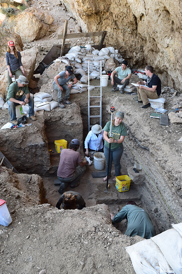 One of University of Wyoming anthropologist Robert Kelly's excavation sites, which will yield radiocarbon dating information to be filed in CARD.