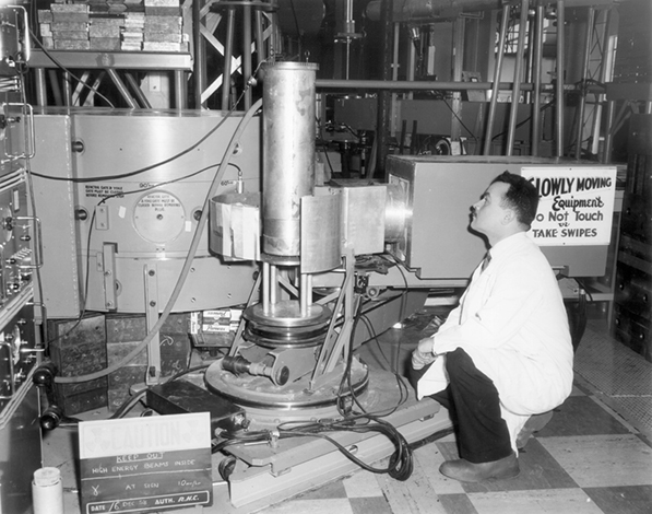 Work with neutron beams at the NRU reactor in the 1950s and 1960s later earned Bertram Brockhouse the Nobel Prize in Physics.