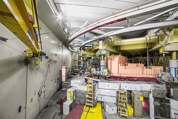 Inside the 520 MeV cyclotron vault