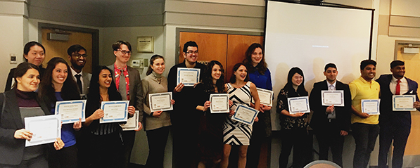 Congratulations to all the 2018 Tornoto Student Award Winners!