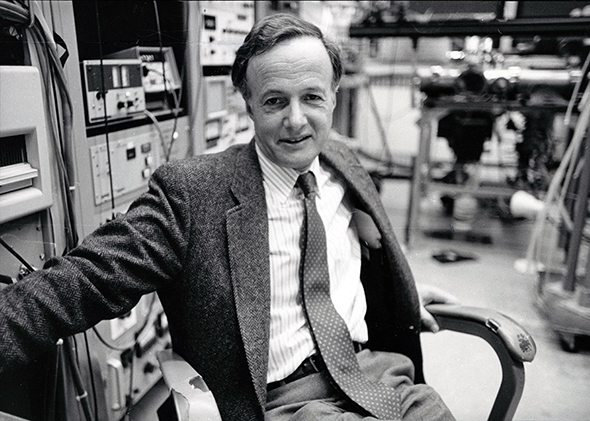 John Polanyi in his laboratory, 1986