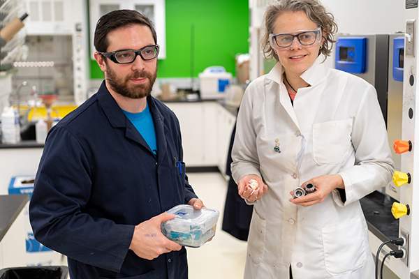 Research Assistant Thomas Di Nardo, who worked with Audrey Moores on a new technique for refining chitosan from chitin