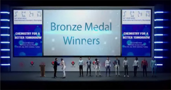 Andrei Mihai Banica, Hung Nguyen, and Justin Qi Hua Cheng received bronze in the International Chemistry Olympiad.