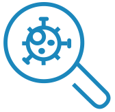 magnifying glass virus icon