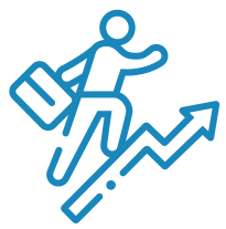 person with suitcase icon